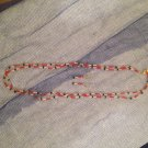 Red, Blue and Gold Beaded Set