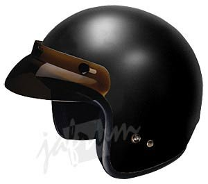 10FlatBlack - Flat Black DOT Open Face Motorcycle Helmet