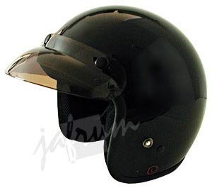 10Black - Black DOT Open Face Motorcycle Helmet