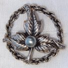 ANTIQUE ARTS & CRAFTS  FLORAL MOTIF BROOCH (FF3)