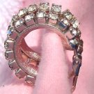 ANTIQUE RHINESTONE HOOP EARRINGS  (E71)
