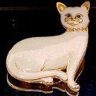 VINTAGE ENAMEL CAT BROOCH  (FIG11)