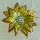 ANTIQUE AURORA BOREALIS FLOWER BROOCH  (FF16)
