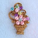 VINTAGE FLOWER BASKET PIN  (FF17)