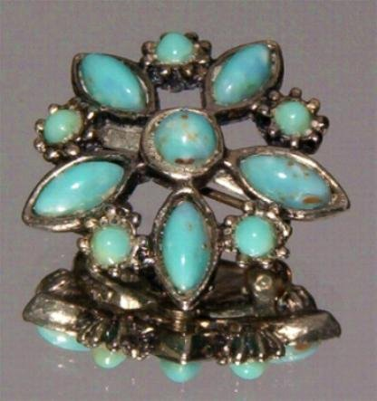 VINTAGE TURQUOISE PIN  (FF14)