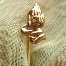 PRAYING HANDS STICKPIN  (P74)