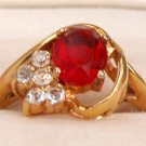 GLASS RUBY COCKTAIL RING SZ. 6 3/4  (R25)