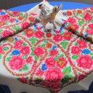Vintage Ukrainian shawl, Russian Floral Scarf ,russian floral scarf, head scarf, white shawl, weddin