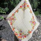 Vintage White Ukrainian Wool Floral Babuska Scarf, White Shawl, Russian wool Floral Scarf, Floral Wh
