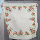 White head scarf, Vintage Wool White Shawl, Vintage Ukrainian Shawl, Russian Floral Scarf , white we