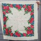 White wool head scarf, Vintage Wool White Shawl, Wool Vintage Ukrainian Shawl, Russian Floral Scarf