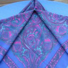 Purple Vintage shawl wrap, Ornaments silk shawl, Violet silk Spring shawl, Head wrap, Violet silk sc
