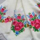 Pure Wool Head Scarf, Vintage Wool White Shawl, Vintage Ukrainian Shawl, Russian Floral Scarf , Wool