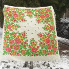 Russian Floral Scarf, white shawl, Pure Wool Rich Floral Vintage Scarf White Ukrainian, white USSR S