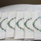 Vintage Linen Tablecloth Dinner Napkins, Wedding Tablecloth for decor, Linen Tablecloth with Embidio