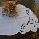 Vintage Decor Napkin for forniture from USSR 50s, Rectangular Lace decor from USSR,  handmade lace n