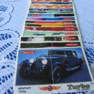 Turbo Classic 1 Edition old wrappers, Complete Turbo Classic collection, Vintage Gum Wrappers with C