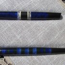 Fancy and Nice Plexiglas 3 Pen Set, USSR Blue Plexiglas pen, Christmas tree decor, Plexiglas for Dec