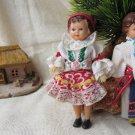Vintage set of 2 Russian Soviet Rubber Toys, 2 USSR vintage Dolls, Ethnic USSR Dolls set with cotton