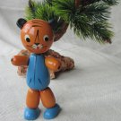 Cat Wooden Russian doll, USSR home decor doll, Wooden Russian Cat figurine, Russian doll decoration,