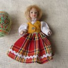 Vintage Ceramic Doll, Home decor from USSR, Vintage Ceramic Decor Doll in dres, Blonde doll from USS