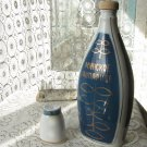 Blue Ceramic Bottle/ Vase with Golden Ornament, Bottle Made in USSR, Russian Design Vase, Home decor
