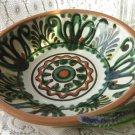 Ceramic majorka painting plate, Ukrainian wide deep plate, Big Vintage ceramic plate, floral plate f