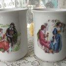 Set of two vintage tea cups, Ceramic mugs set, fairy tale design, folklore style tea cup, kitchen de