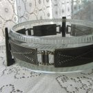 Glass and Metal Serving bowl, Salad Bowl with metal stand, Metal Plate Chafing Stand, Glass Serving