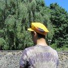 Vintage Soviet Yellow Cap, Cotton Yellow Hat 100% cotton, Vilage Ukrainian Hat, Vintage Sun Hat, USS