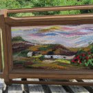Handmade Framed Scenery Wall Hanging Tapestry, Tapestry wall hanging, Art Handmade Scenery Tapestry,