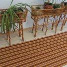 Vintage Yellow/Brown Kilim Rug Runner, Lines Pattern old carpet, Red and Grey Rug, Christmas Rug Run