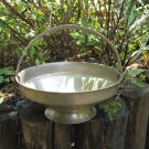 Vintage Metal Tray with handle, Candle Tray, Jewelry Holder, Vintage candle holder, marked with Hear