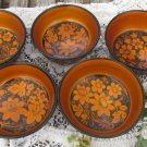 Russian vintage hand painted wooden bowl, Traditional Russian Khokhloma Bowl, Floral Wooden Bowl, La