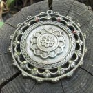 Rhinestone Vintage Round Big Button Brooch, Wedding Round Brooch, Hair Comb, DIY Project Brooch, His
