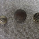 Assorted 3 Buttons Metal Buttons Set for craft, Vintage Button Military assorted Set, DIY Metal thre