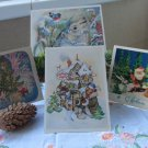 4 Vintage Christmas Post Cards from USSR, Soviet Union Christmas, Old Postcards