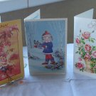 Vintage Greeting Cards (3) from USSR, Birthday cards, Universal birtday cards, Floral Greetings card