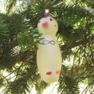 Vintage Christmas Snowman, A Christmas ornament of Glass, USSR, Soviet Christmas