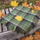 Green checkered wool pattern scarf, USSR vintage wool scarf, Warm gift for christmas, Chechered shaw