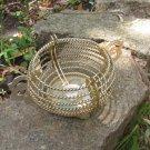 Golden Metal Vintage Cookie jar, Bowl with Handles, Corded Bowl, Decor bowl for candy,  Serving patt