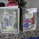 Set of 2 Soviet Union Postcrds, Two Cute Condition Christmas Post Cards Blank USSR, Santa Claus post