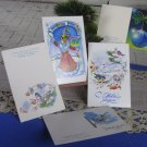 Set of 5 Awesome Greating Christmas Post Cards With Birds and Winter Ornaments, Never Been Used NEW
