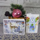 Two Great Condition Christmas Post Cards from USSR, Soviet Union Christmas, Old Postcards Set of 2,