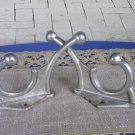 2 Huge Wall Rack Hooks USSR 1970s, Soviet Vintage Huge Aluminium Clothes Hook, Clothes hangers, DIY
