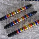 Colorfool Set Of 3 Pens With Plexiglass Handles For DIY Projects Screw Attached, Great USSR Pen Set