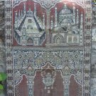 Cotton/silk vintage prayer rug, Christmas Eastern  small tablecloth, cotton/silk prayer rug, placeme