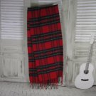 Red Striped Schurwolle Cashmere Shawl Winter Couzy Accessorie, Cashmere Scarf Gift For Her, Warm Win