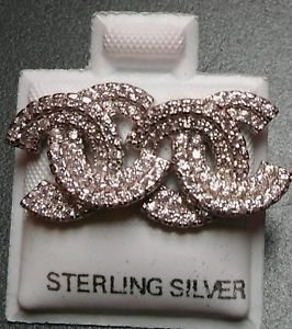 925 Sterling Silver Heavy Designer Stud Earrings