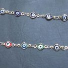 14k Gold Plated Multi Colored Good Luck Evil Eye Protection Bracelet